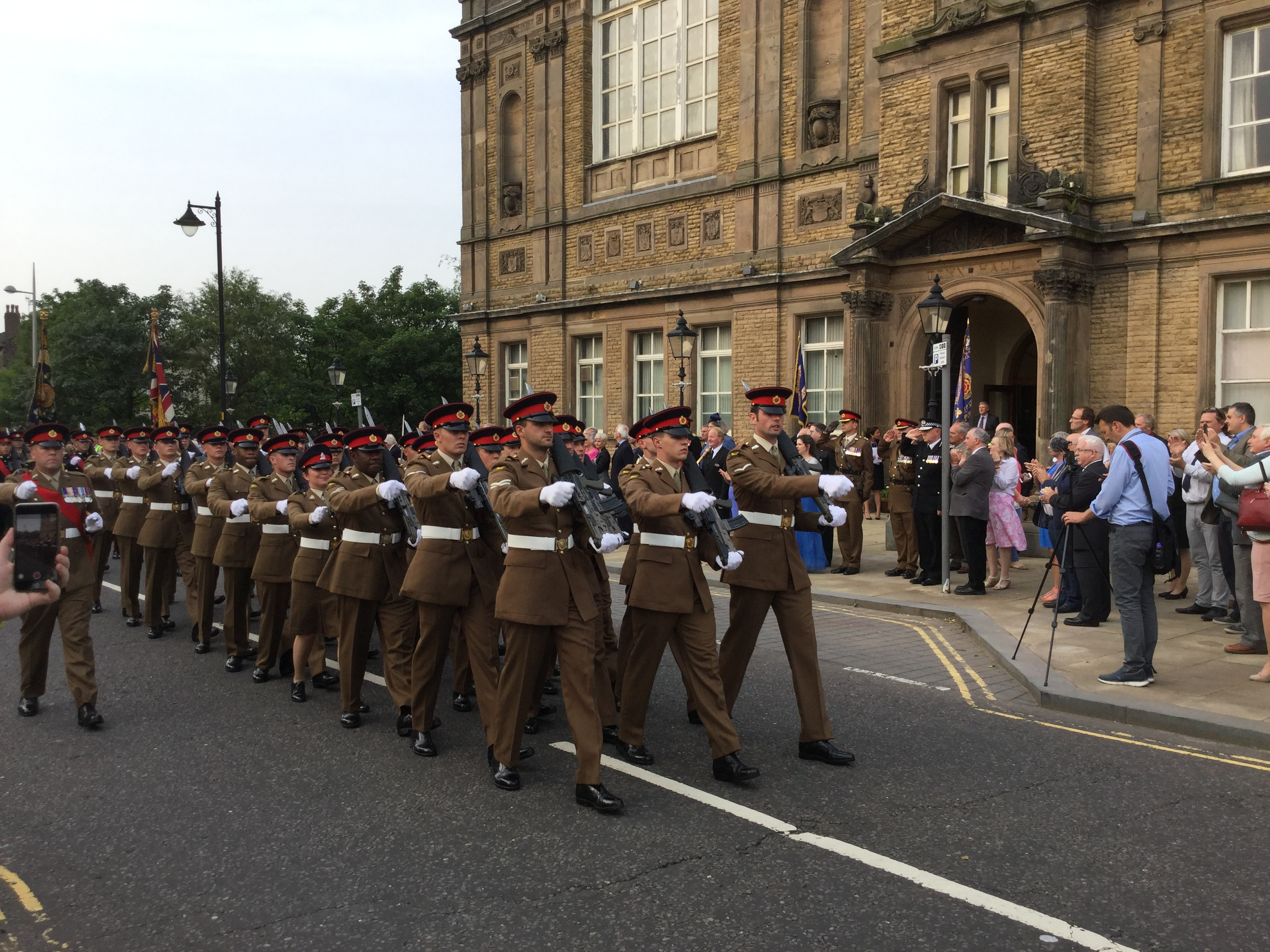 Last night Sefton Council awarded the freedom of the borough to the Duke of LancasterÂ's Regiment at Bootle Town Hall. The Regiment paraded through the streets of Bootle with colours flying, bands playing, drums beating and bayonets fixed.    The parade was followed by a civic reception where the...
