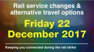 Passengers travelling to, from and within the Liverpool City Region are being urged to plan their journeys and check before they travel ahead of planned industrial action by members of the RMT union on Merseyrail services Friday 22nd December.        Merseyrail services are planned to run every 30...