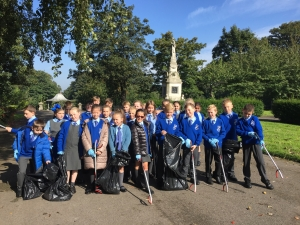Bootle pupils help spruce up Derby Park