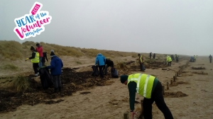 Beach helpers brush up a storm after Geraldine