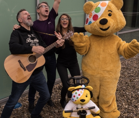 BBC Merseyside visit Crosby Lakeside for Children In Need