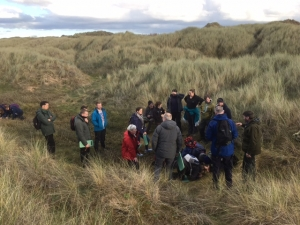Volunteers brave the cold to explore Sefton's Sand Dunes