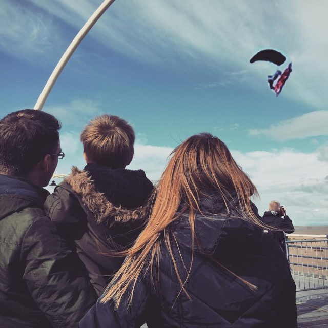 All eyes on the sky! mysefton southport airshow parachute freefallhellip