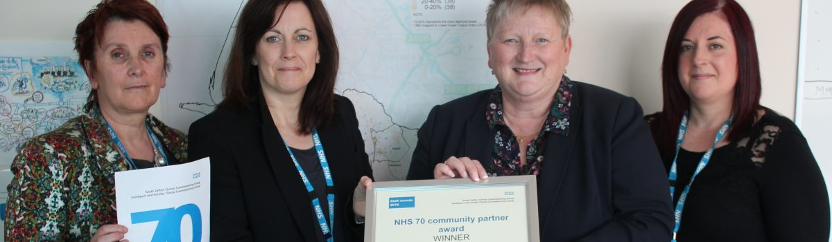 Sefton CVS recognised for contribution to the NHS