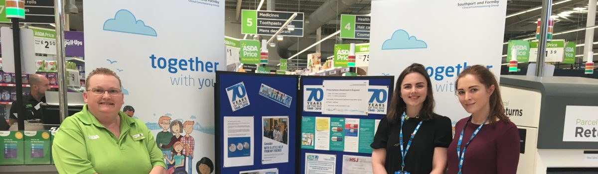Local NHS staff and Asda celebrate the NHS' 70th birthday