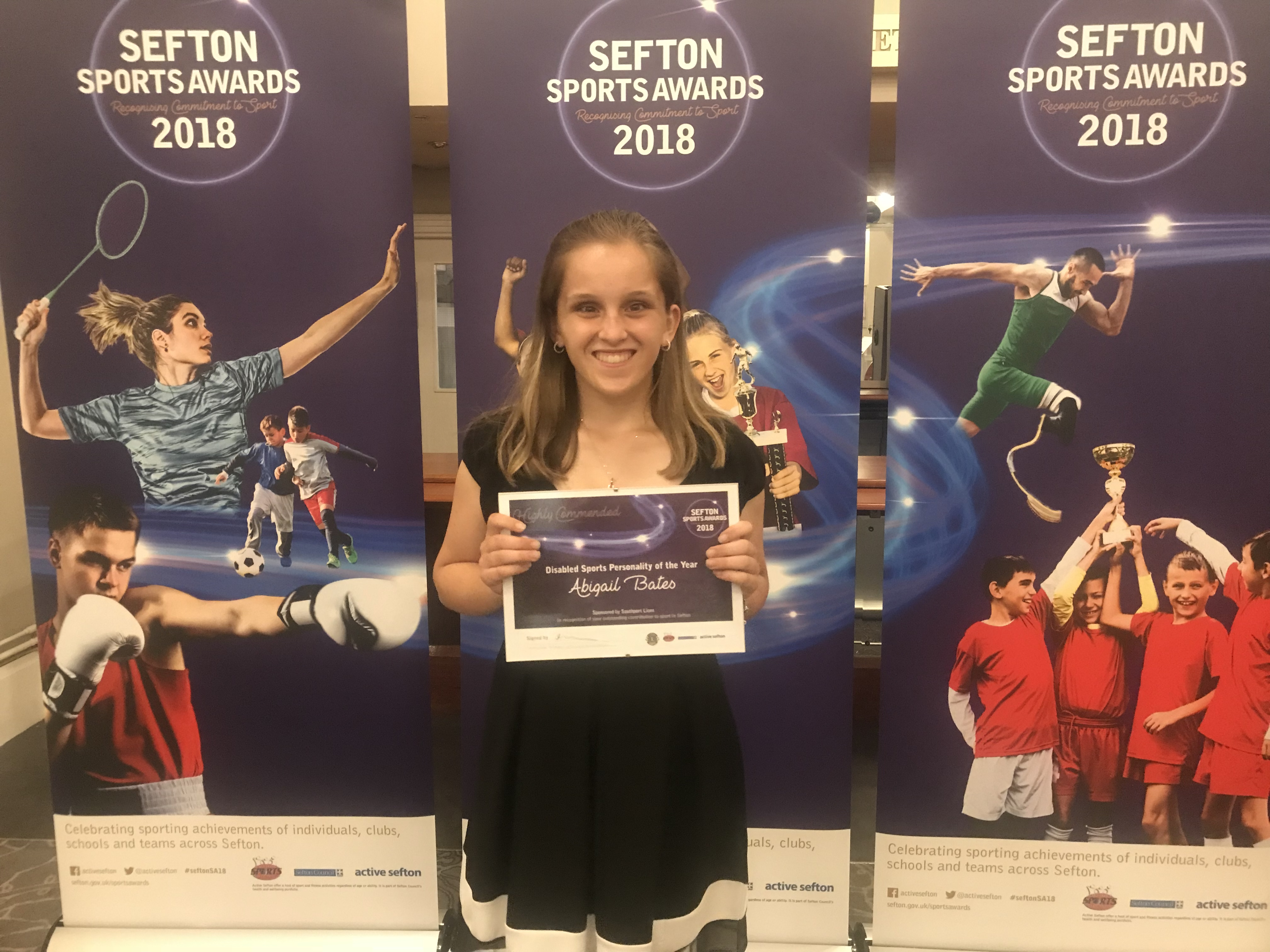 Abigail Bates (highly commended) Disabled Sports Personality