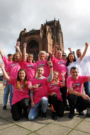 Intrepid volunteers conquer cathedral abseil for Sefton charity