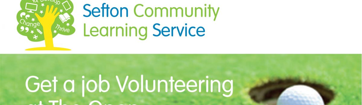 Get a job Volunteering at The Open