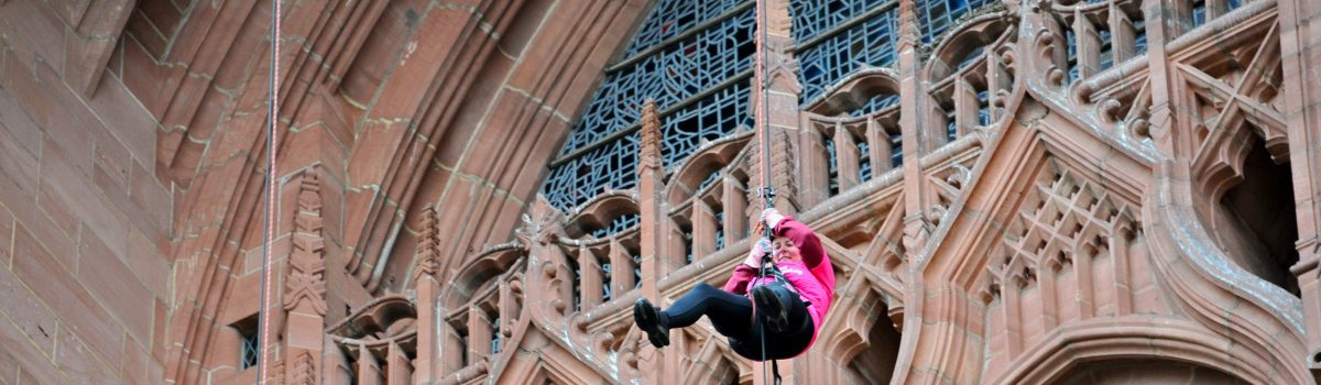 Mayor takes on Liverpool Cathedral abseil for charity