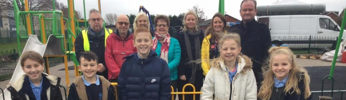 School Children Plant Time Capsule at new look Play Area