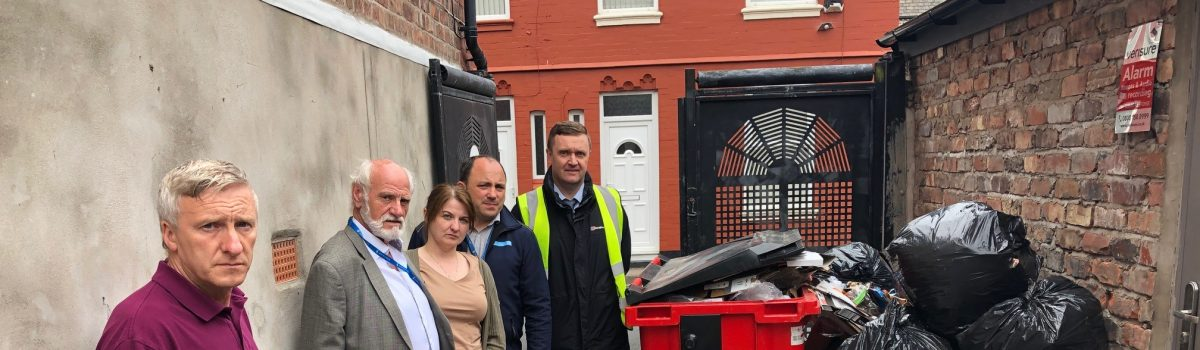 Alleyway flytipping is becoming a 'Riddock-ulous' health risk