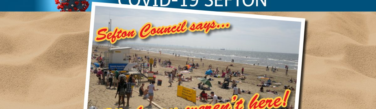 'Wish you weren't here!' is our spoof postcard message to deter Bank Holiday beach crowds