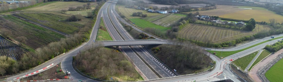 The M58 Junction 1 slip roads are now open