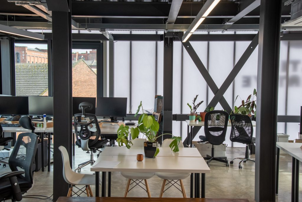 Inside of a similar office space that the enterprise hub could look like