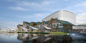 Plans for new Southport Marine Lake Events Centre, artist impression