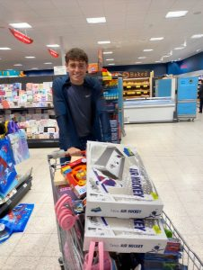 Jack Antonio with toys bought for the appeal