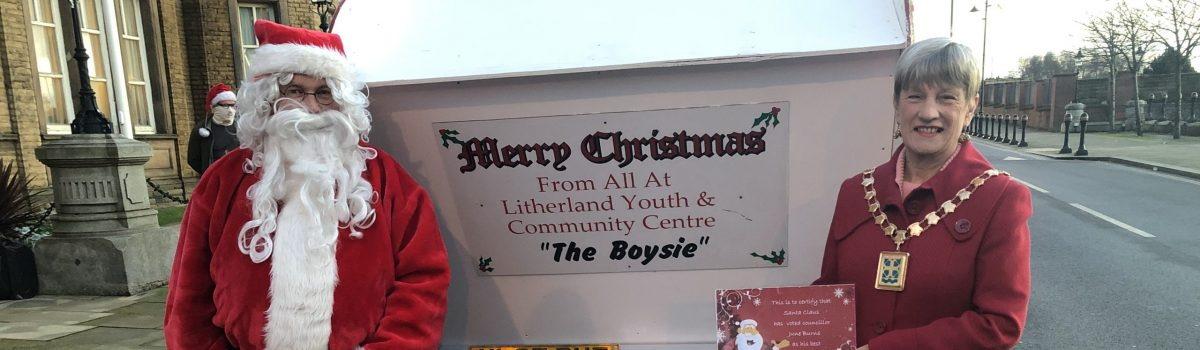 Father Christmas flies by to support Sefton Mayor's Toy Appeal