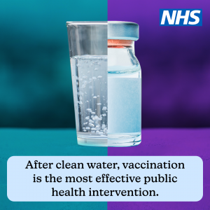 After clean water, vaccination is the most effective public health intervention.