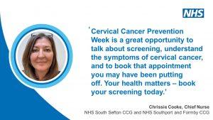 Statement from Chief Nurse Chrissie Cooke