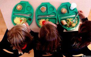 Image of children eating school dinner