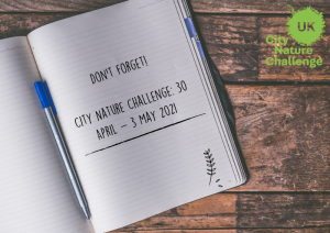 Don't forget the city nature challenge is taking place 30th April to 3rd May 2021