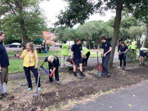 Past volunteer activity undertaken by a group at Merrilocks Park with Green Sefton officers