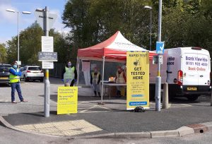Pop-up testing in Formby
