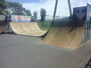 Newly refurbished 'Halfpipe' at Southport Skatepark