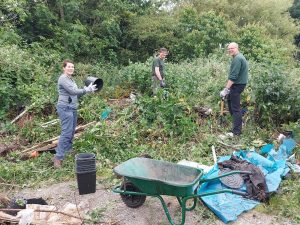 clean-up day at Crosby's Scape Lane allotments