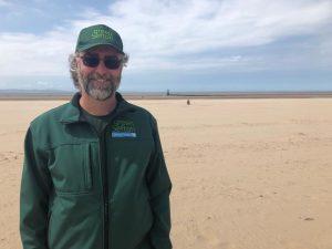 Mark Shaw, Green Sefton Service Manager, at Crosby beach