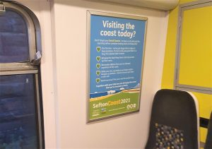 Poster up in Merseyrail train carriage