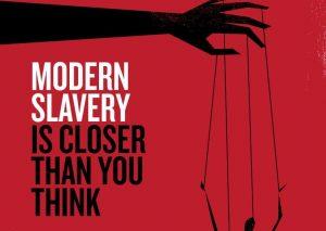 Tackling modern slavery poster