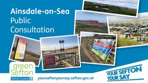 Images of Ainsdale asking for people to take part in a public consultation