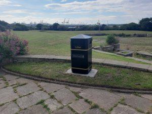 New bin installed at Crescent Gardens, Seafront Gardens, Waterloo