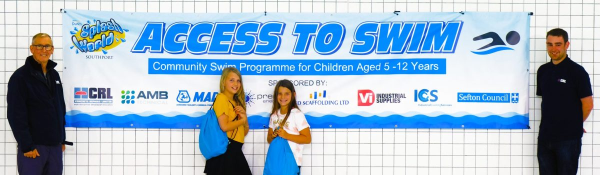 Sefton teams up with partners to provide FREE swimming lessons for disadvantaged children