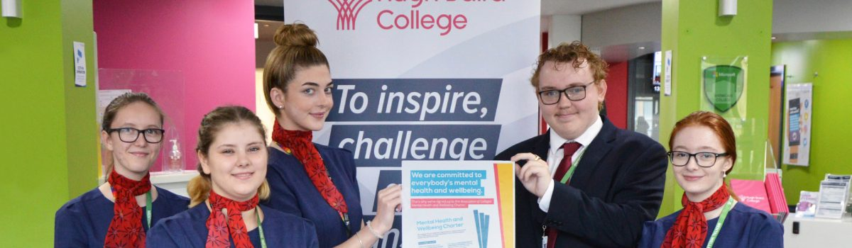 Hugh Baird College makes commitment to support students and staff with their mental health and wellbeing